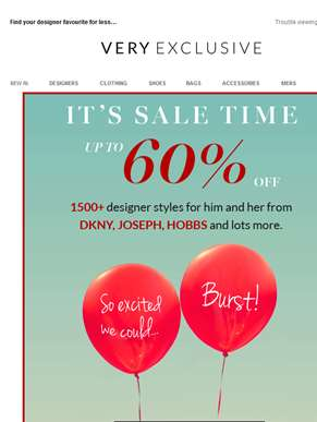 Up to 60% OFF! The Very Exclusive Sale just got better