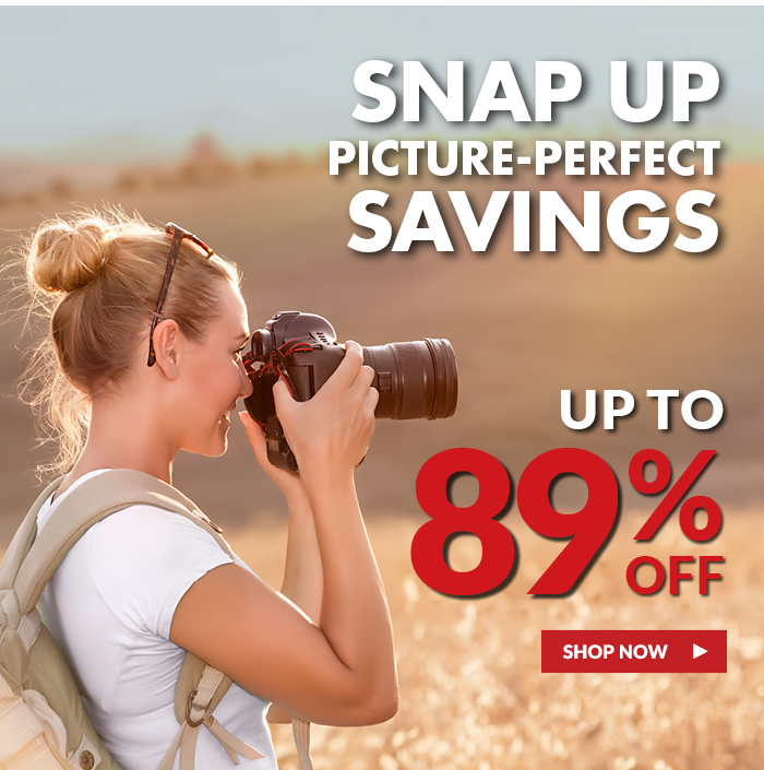 Snap Up Picture-Perfect Savings! Up To 89% Off through 8/24! Shop Now >