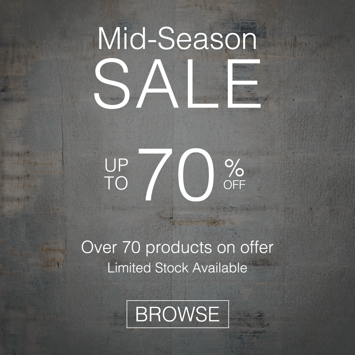 Mid-Season SALE - Up to 70% off