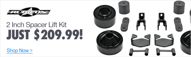 Rubicon Express 2 Inch Spacer Lift Kit - Just $209.99!