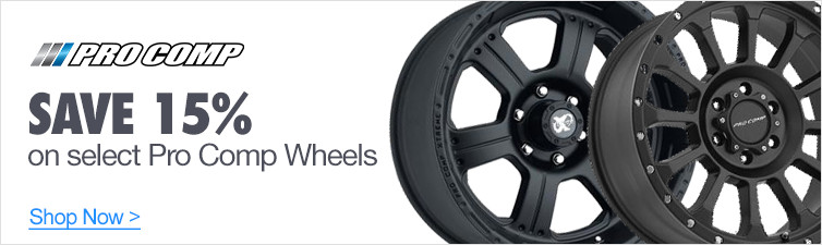 Save 15% off Select Pro Comp Wheels