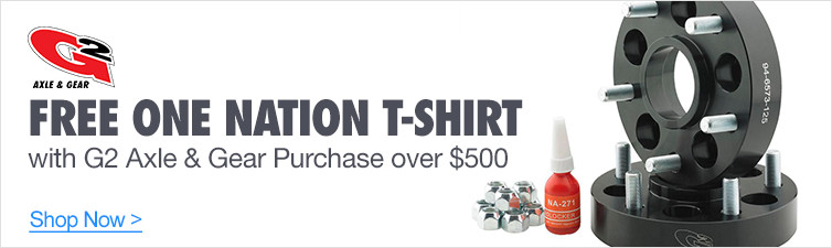 Free One Nation T-Shirt with G2 Axle & Gear Purchase over $500