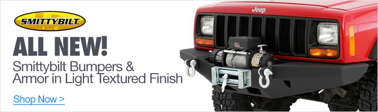All New Smittybilt Bumpers & Armor in Light Textured Finish