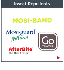 Travel Essentials - Insect Repellents: Mosi-Guard, Mosi Band, After Bite and Go-Travel. Shop now!